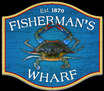 Fisherman's Wharf Shield Sign