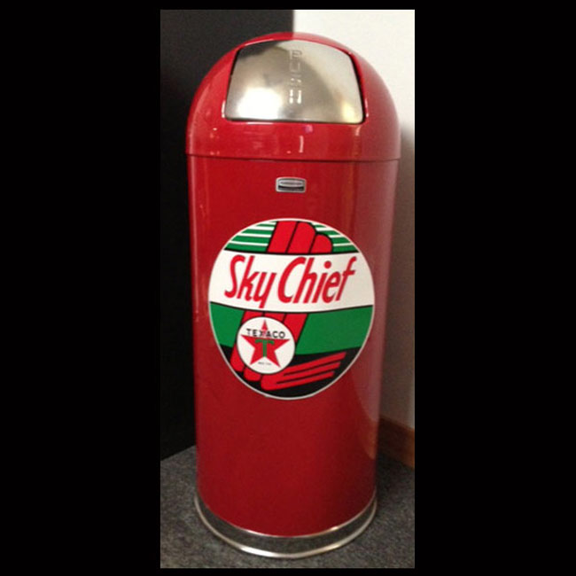 Retro Style Trash Can- Texaco Skychief