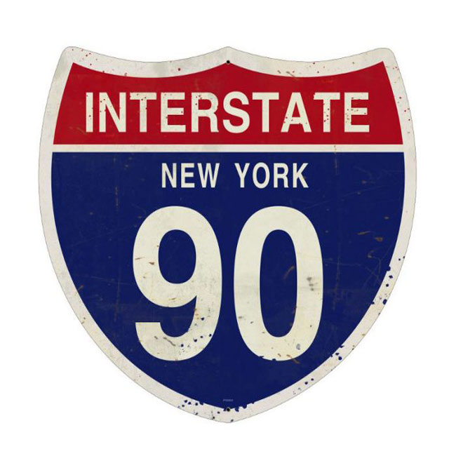 New York Interstate 90 Highway Shield Sign Road Signs