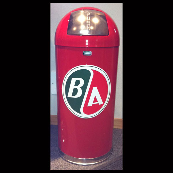 Retro Style Bullet Trash Can w/ BA Gasoline