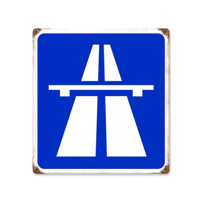 Entering the Autobahn Highway Sign - Road Signs - Signs ... Autobahn Sign