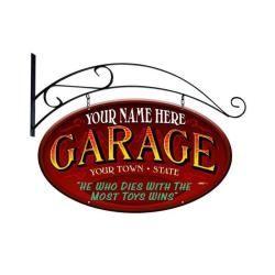 Personalized garage from vintage garage signs for Vintage garage signs uk