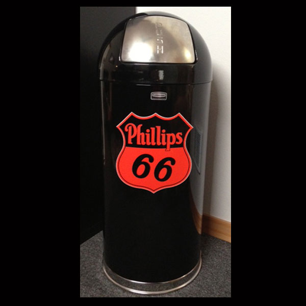 Phillips 66 Retro Style Durable Trash Can