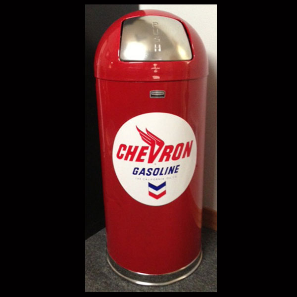 Chevron Retro Style Bullet Trash Can