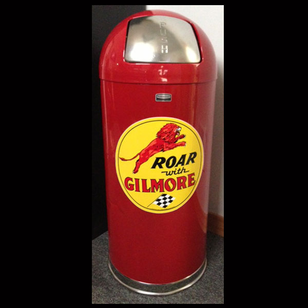 Gilmore Gasoline Retro Style Bullet Trash Can