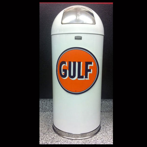 Gulf Gasoline Retro Style Trash Can