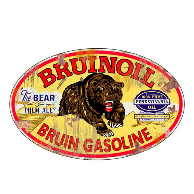 Bruin Oil Vintage Sign
