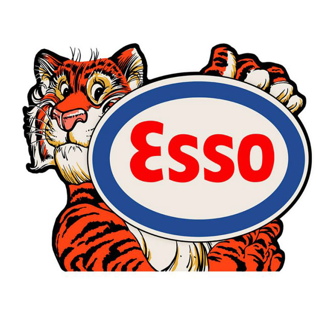 Esso Tiger Gas Sign | Gas Station Signs | Signs | From ...