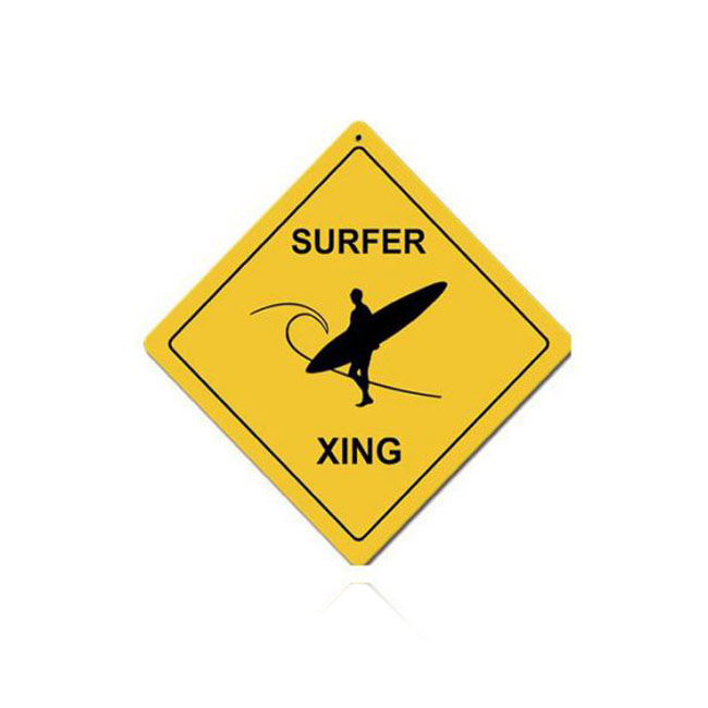 Surfer Crossing Sign