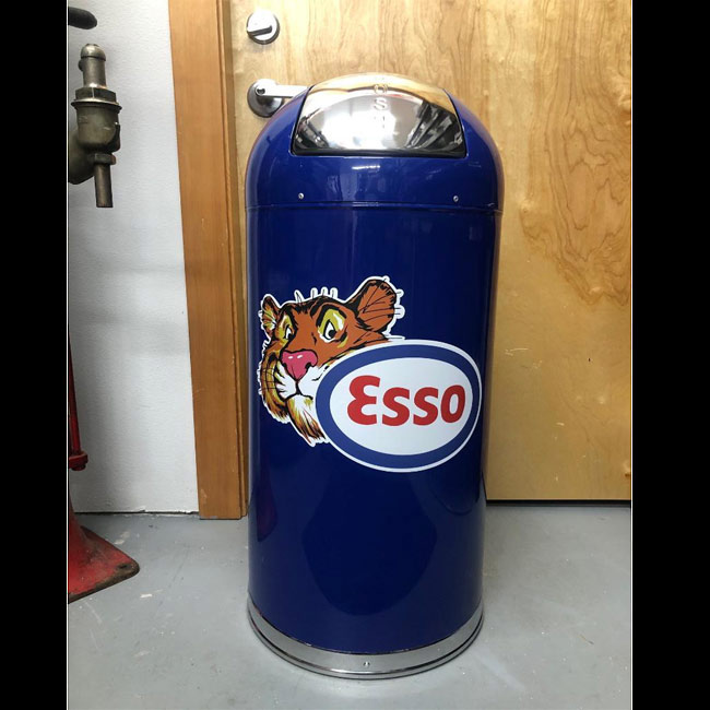 Esso Tiger Retro Trash Can