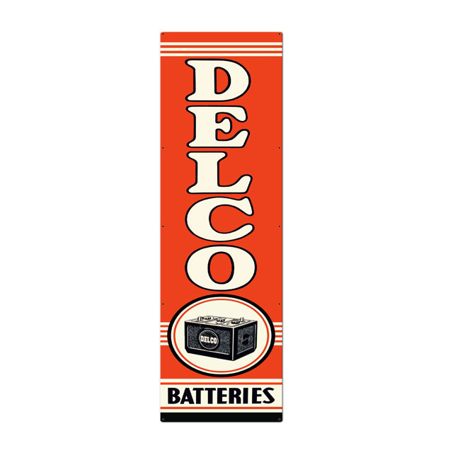 Delco Batteries Sign