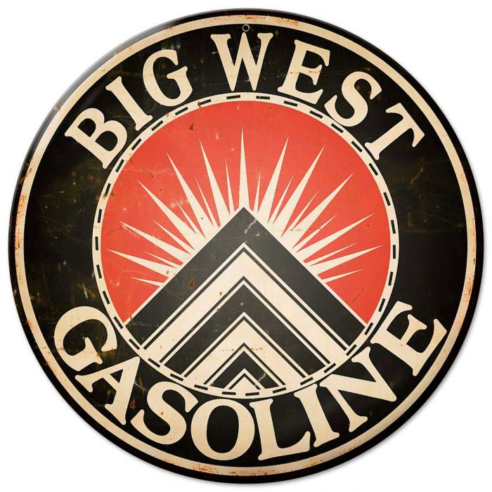 Big West Gasoline Sign