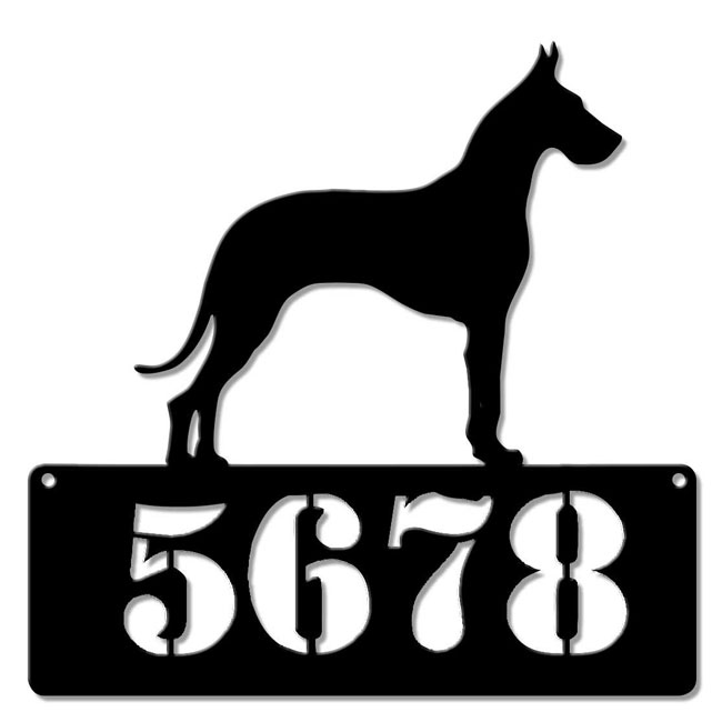 Click to view more Dog Address Signs Custom Personalized Signs